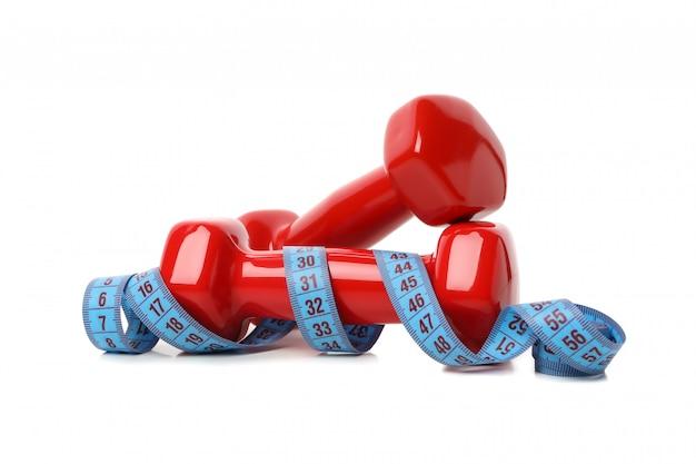 Halters en meetlint geïsoleerd, gewichtsverlies