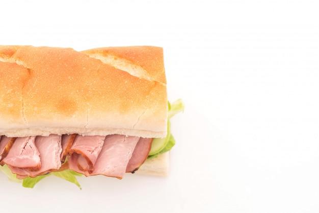 Ham en salade onderzeeër sandwich