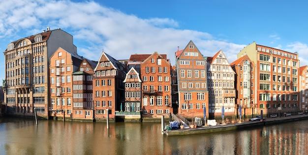 Hamburg, duitsland, historische huizen in hamburg speicherstadt