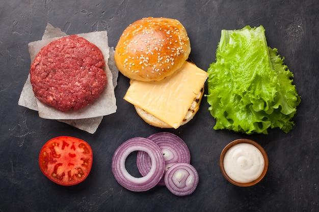 Hamburger bouwpakket.