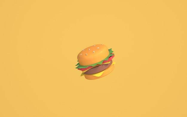 Hamburger geïsoleerd