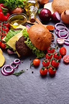 Hamburger van het beste eten