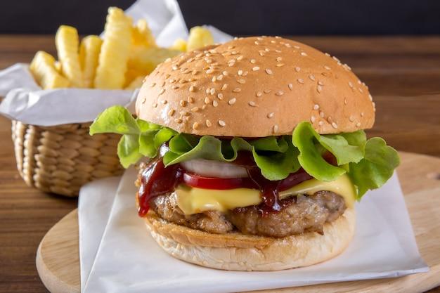 Hamburger zelfgemaakt