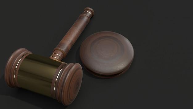 Hamer het houten 3d teruggeven voor wet.