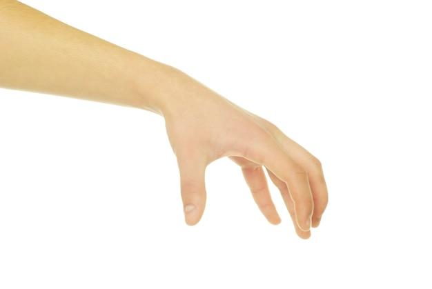 Hand geïsoleerd op een witte achtergrond