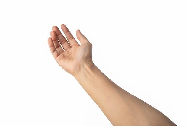 Hand geïsoleerd op wit
