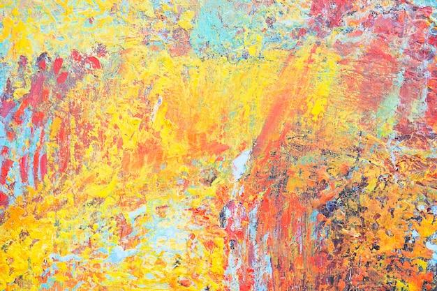 Hand getekend abstracte olieverfschilderij achtergrond