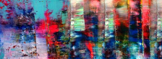 Hand getekend kleurrijk schilderij abstracte kunst panorama achtergrond kleuren textuur ontwerp illustratie