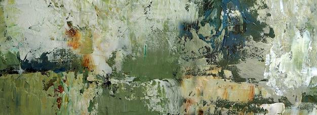 Hand getekend kleurrijk schilderij abstracte kunst panorama achtergrondkleuren textuur op canvas