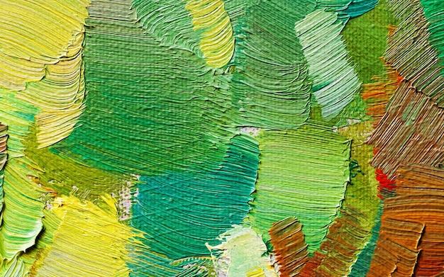 Hand getekend olieverfschilderij. abstracte kunstachtergrond. olieverf schilderij textuur
