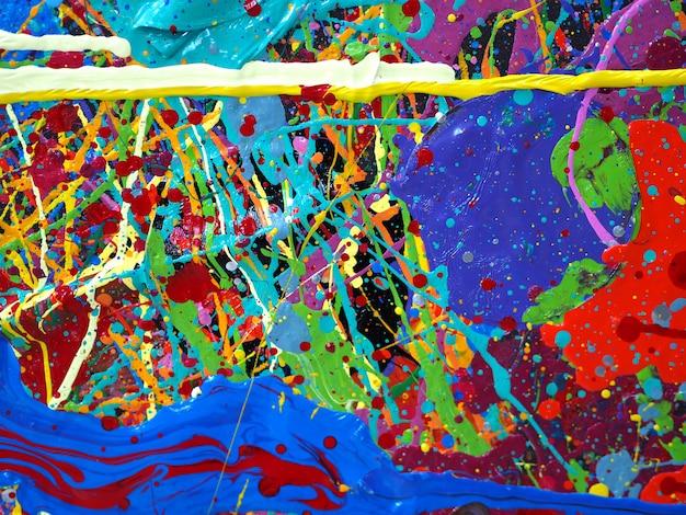 Hand getekend olieverfschilderij. olieverf op doek. multi kleurenachtergrond.