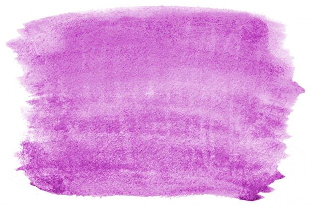 Hand getekend paarse aquarel vorm voor uw ontwerp. creatieve geschilderde achtergrond, handgemaakte decoratie