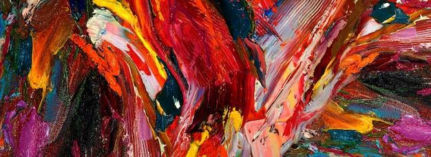Hand getekend schilderij abstracte kunst panorama achtergrond kleuren textuur ontwerp illustratie