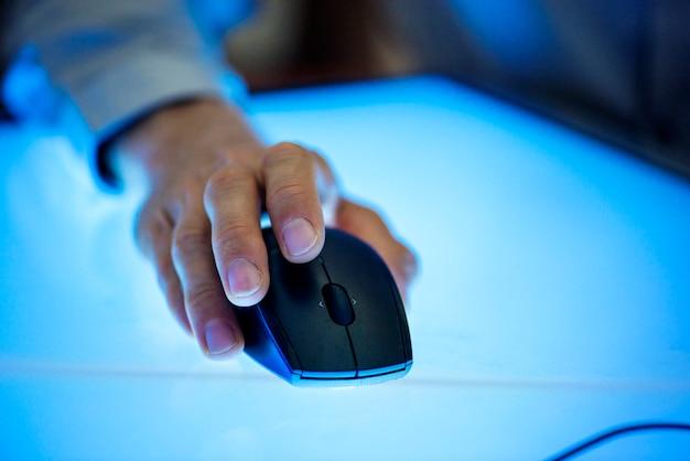 Hand houden met muis te klikken