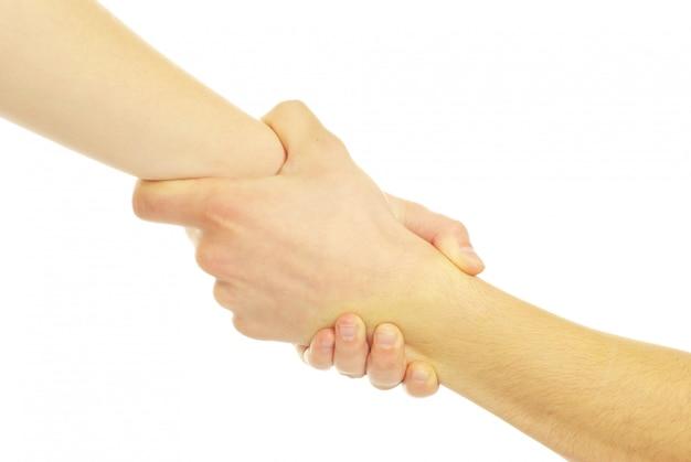Hand in een hand