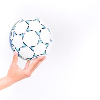 Hand met bal