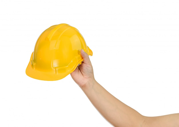Hand met een bouwvakker