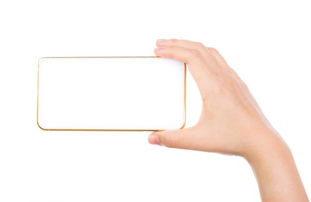 Hand met een smartphone