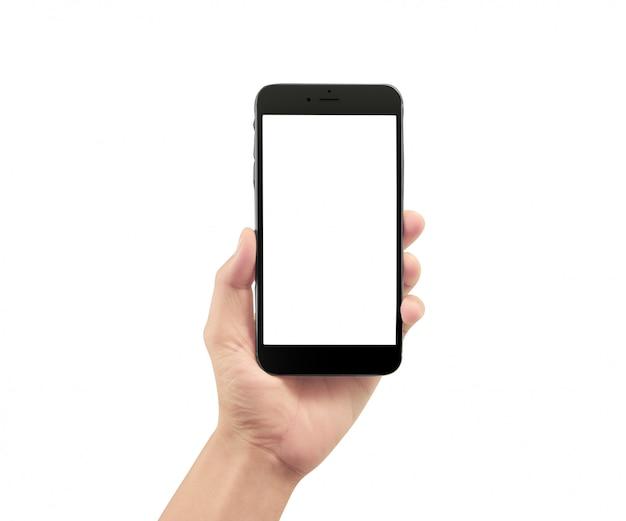 Hand met smartphoneapparaat