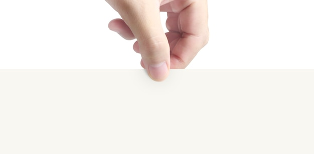 Hand met virtuele een papier