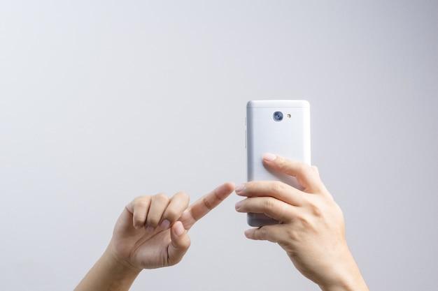 Hand nemen van een foto of video via de mobiele telefoon