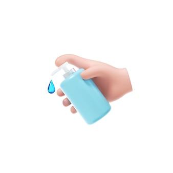 Hand ontsmettingsmiddel pictogram