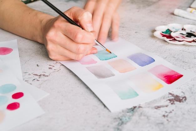 Hand schilderij