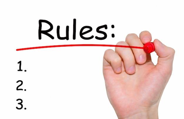 Hand schrijven inscriptie regels met marker, concept