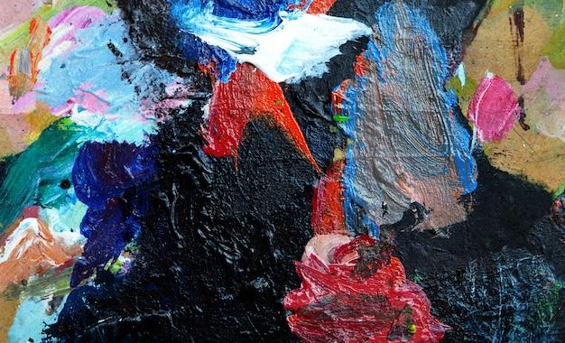 Hand tekenen abstracte achtergrond kleurrijke schilderij.