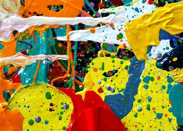 Hand tekenen kleurrijke olieverf abstracte textuur.