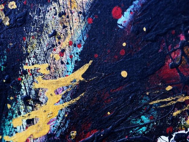 Hand tekenen kleurrijke olieverfschilderij abstracte achtergrond en textuur