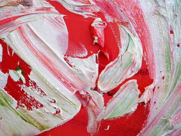 Hand tekenen kleurrijke olieverfschilderij multi kleuren abstracte achtergrond en textuur.