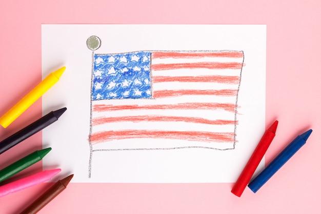 Hand tekenen met kleurpotloden