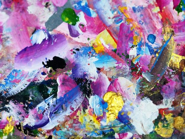 Hand tekenen textuur kleurrijke olieverf abstracte achtergrond.