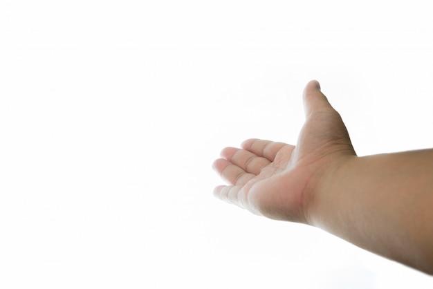 Hand van de mens