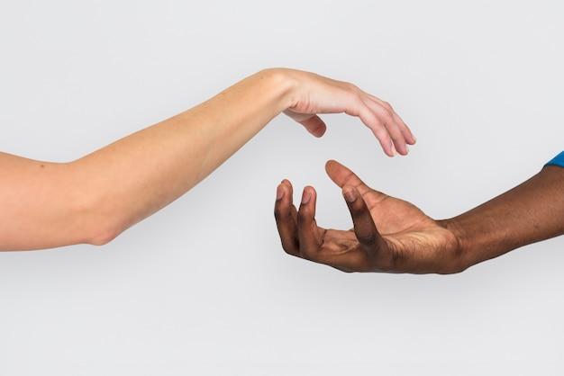Handarm menselijk concept als achtergrond