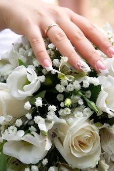 Handboeket voor bruid