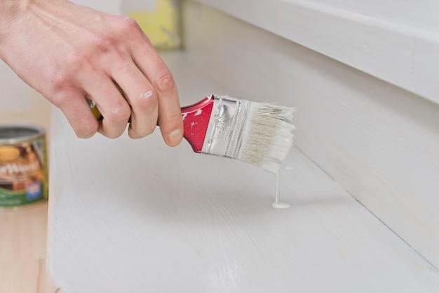 Handborstel schilderen