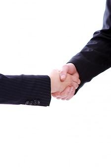 Handdruk van twee zakelijke partners