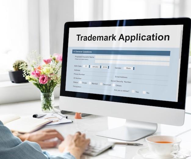Handelsmerk aanvraagformulier formulier concept