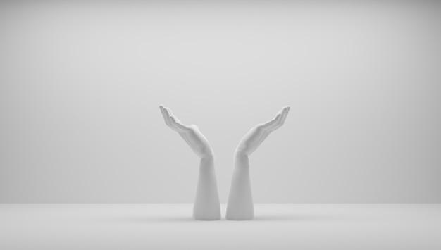 Handen die een idee beschermen. ik heb een idee en dat wil ik beschermen. een idee patenteren. eureka, ik heb een idee.