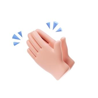 Handen klappen pictogram
