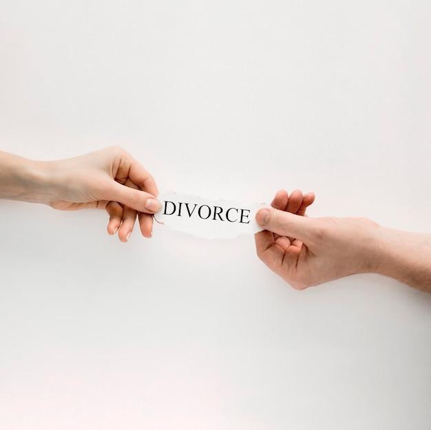 Handen met echtscheiding