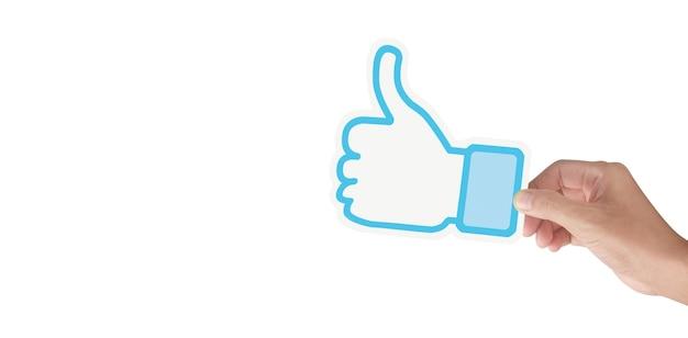 Handen met sociale voorzien van een netwerkdienst op papier