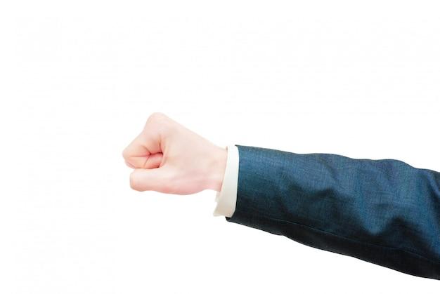 Handen op witte achtergrond worden geïsoleerd die