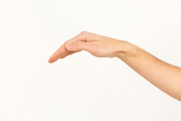 Handen op witte achtergrond