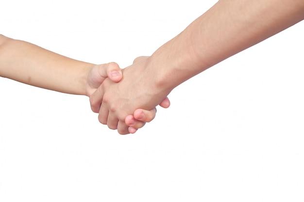 Handen schudden van twee mannelijke mensen