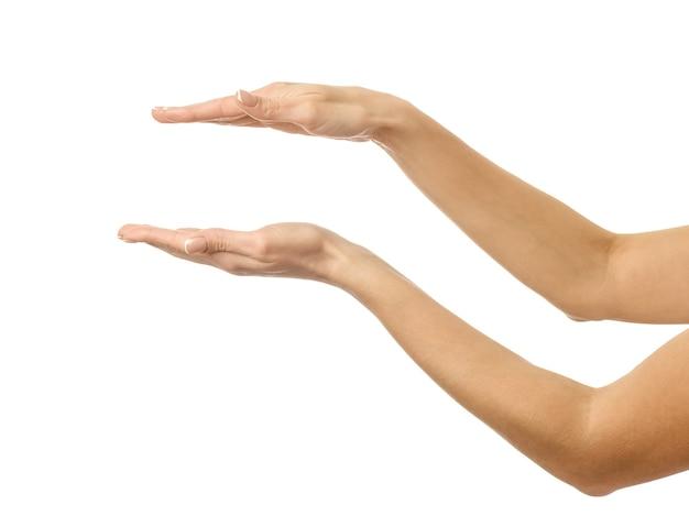 Handen vasthouden of meten