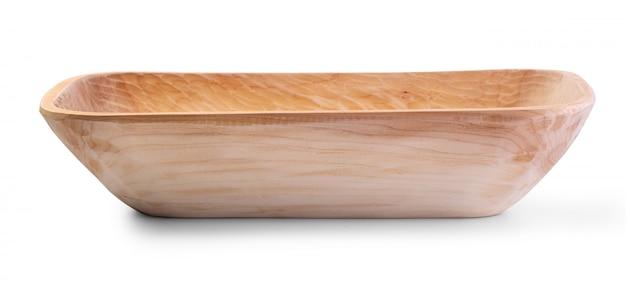 Handgemaakte gesneden houten kom