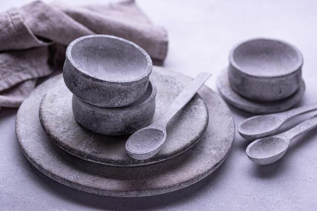 Handgemaakte handgemaakte betonnen borden en schalen